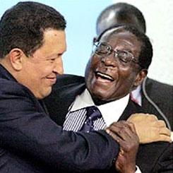 Hugo Chavez and Robert Mugabe