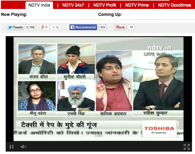NDTV Discussion